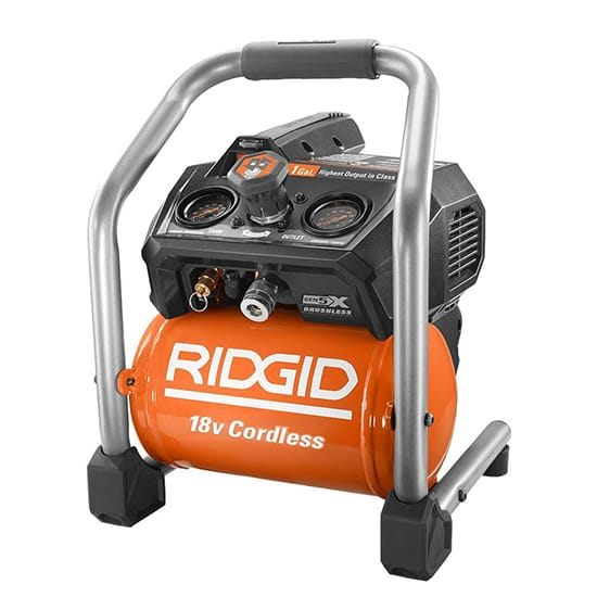 RIDGID 18-Volt Cordless Brushless 1 Gal. Portable Air Compressor (Tool Only)
