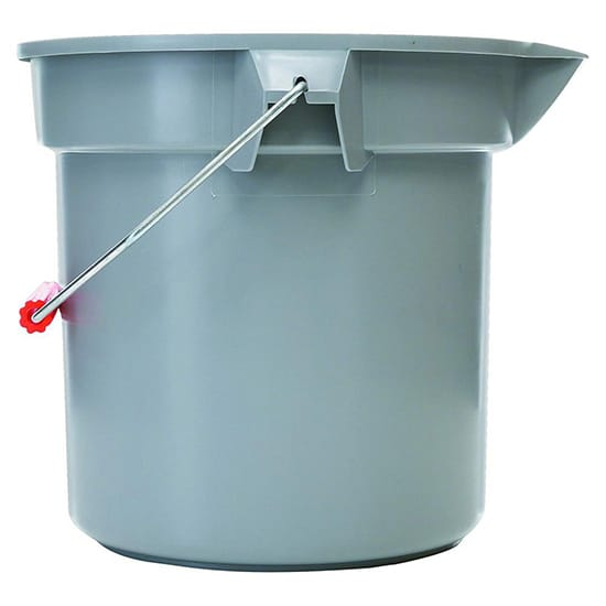 Rubbermaid Commercial Products Brute 3-1/2 Gal. Gray Plastic Bucket