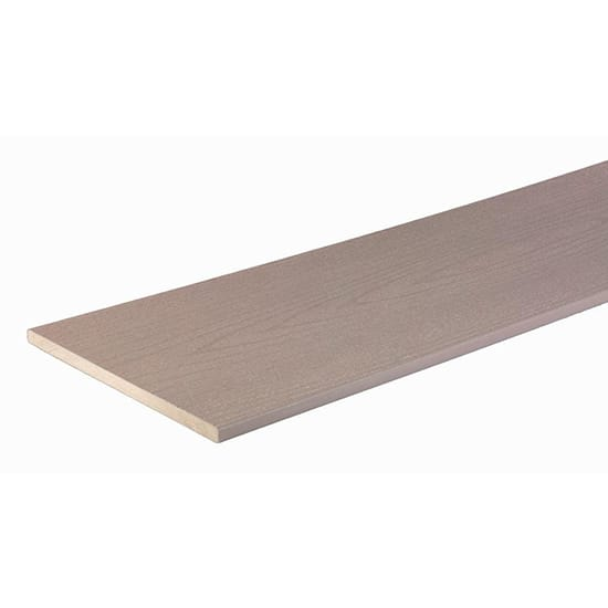 TimberTech Harvest Collection 0.5 in. x 11.75 in. x 12 ft. PVC Fascia Board in Slate Gray