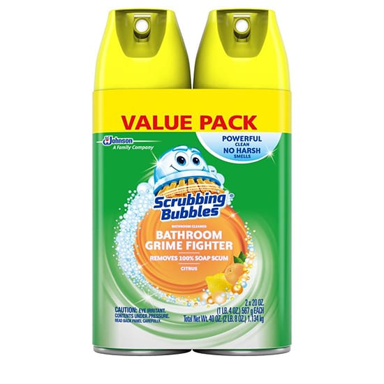 Scrubbing Bubbles 20 oz. Fresh Citrus Scent Disinfectant Bathroom Cleaner (Pack of 2)