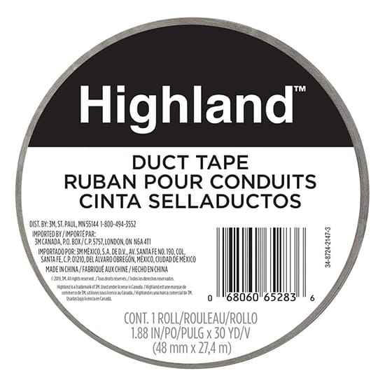 3M Highland 1.88 in. x 30 yds. (48 mm x 27.43 m) Duct Tape
