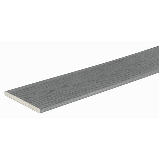 TimberTech PRO Terrain 0.5 in. x 7.25 in. x 12 ft. Silver Maple Square Composite Riser Board