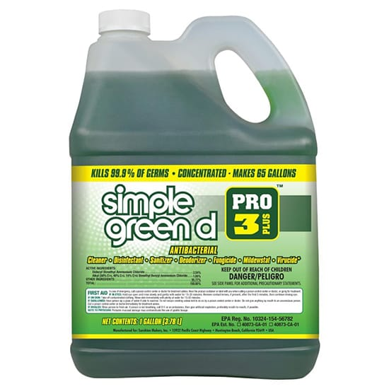 Simple Green Pro 3 Plus 1 Gal. Herbal Scent Antibacterial Cleaner and Disinfectant
