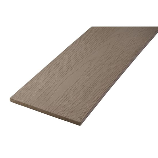 TimberTech TimberTech Earthwood Evolutions Terrain 0.56 in. x 12 in. x 12 ft. Fascia Composite Decking Board in Sandy Birch
