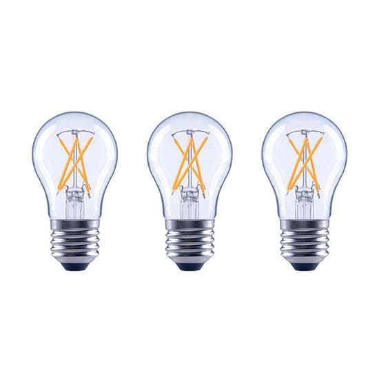EcoSmart 40-Watt Equivalent A15 Dimmable Energy Star Clear Glass Decorative Filament Vintage LED Light Bulb Soft White (3-Pack)