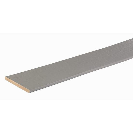TimberTech PRO Terrain Collection 9/16 in. x 7-1/4 in. x 12 ft. Stone Ash Capped Riser Composite Decking Board