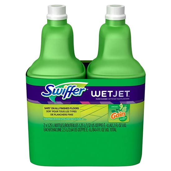 Swiffer WetJet 42 oz. Multi-Purpose Floor Cleaner Refill with Gain Scent (2-Pack)