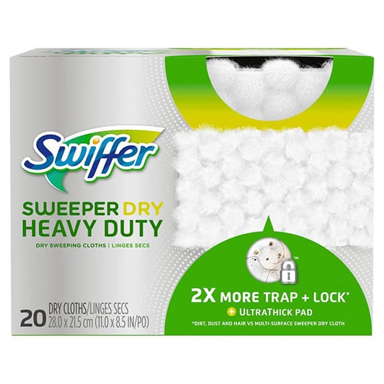 Swiffer Sweeper Dry Heavy-Duty Dry Sweeping Cloths (20-Count)