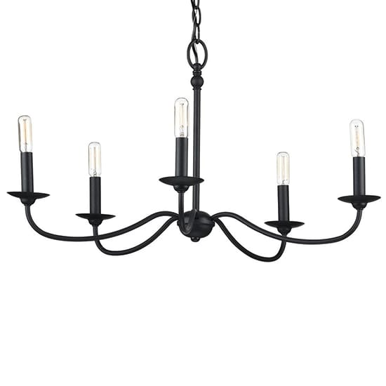 Progress Lighting Pacolet 5-Light Textured Black Chandelier