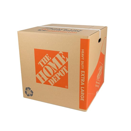 The Home Depot 22 in. L x 22 in. W x 22 in. D Heavy-Duty Extra-Large Moving Box with Handles