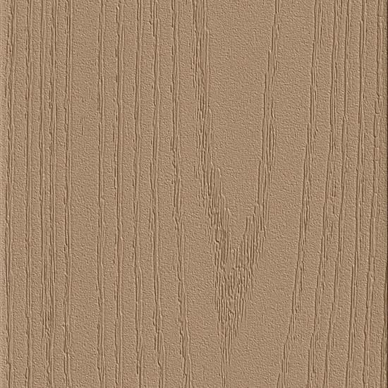 TimberTech Harvest Collection 1 in. x 5-1/2 in. x 12 ft. Solid PVC Composite Decking Board in Brownstone