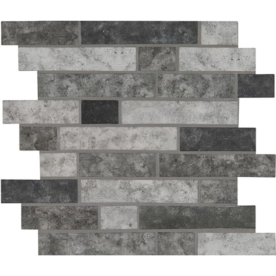 MSI Urban Tapestry Interlocking 11.81 in. x 11.81 in. x 6 mm Glass Mesh-Mounted Mosaic Tile