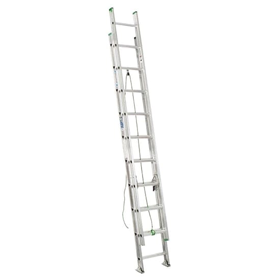 20 ft. Aluminum Extension Ladder with 225 lb. Load Capacity Type II Duty Rating
