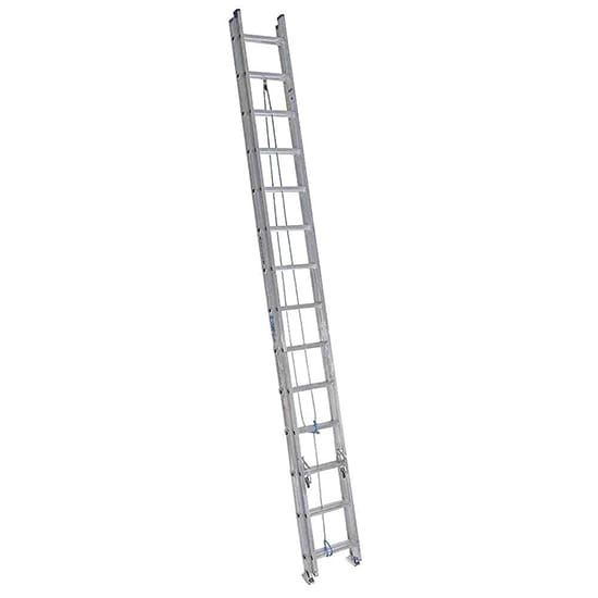 28 ft. Aluminum Extension Ladder with 250 lbs. Load Capacity Type I Duty Rating
