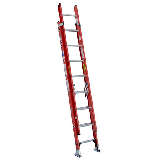 16 ft. Fiberglass D-Rung Extension Ladder with 300 lbs. Load Capacity Type IA Duty Rating