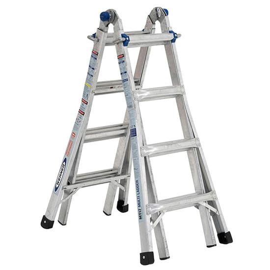 5-in-1 Telescoping 18 ft. Reach Aluminum Multi-Position Ladder with 375 lbs. Load Capacity Type IAA Duty Rating