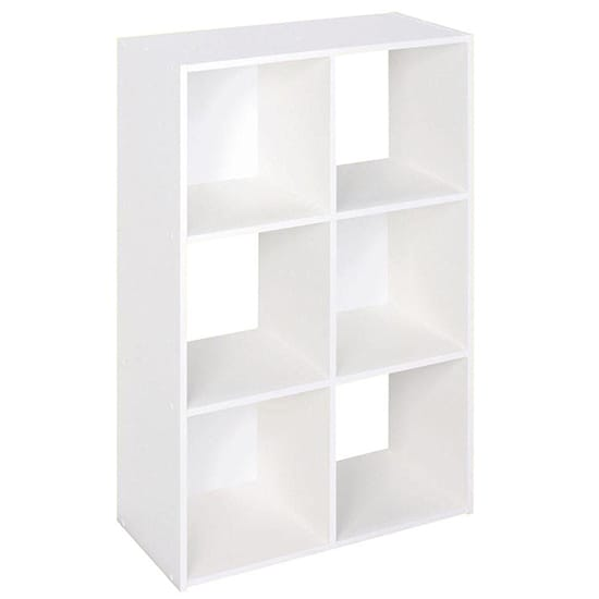 ClosetMaid 24 in. W x 36 in. H White Stackable 6-Cube Organizer