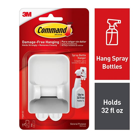 Command White Spray Bottle Hanger with 2-Large Adhesive Strips