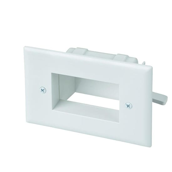 Commercial Electric Low Voltage Recessed Cable Plate, White