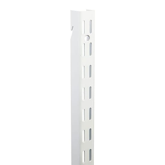 Everbilt 25.5 in. White Super Duty Dual Track Wall Standard