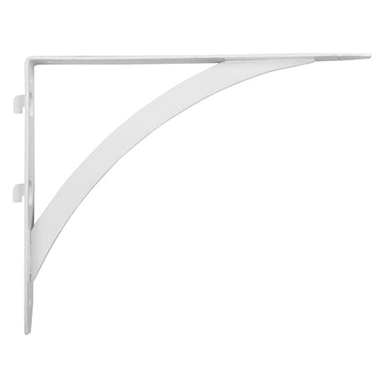 Everbilt 10.25 in. x 7.7 in. White Dual Track Elegant Shelf Bracket