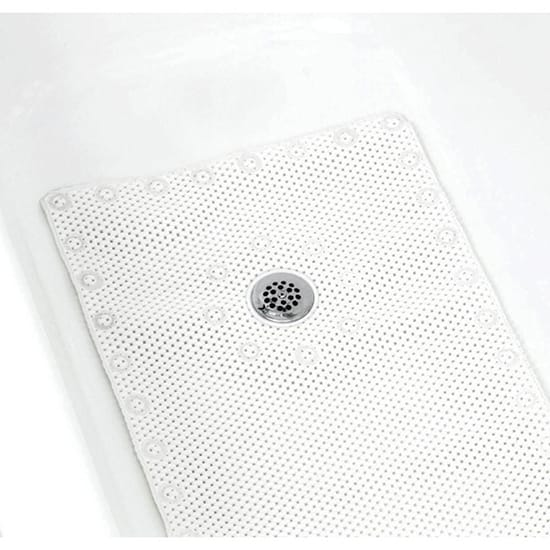 Glacier Bay 17 in. x 36 in. Foam Bath Mat in White