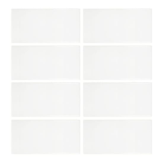 Jeffrey Court Allegro White 3 in. x 6 in. Ceramic Wall Tile (8 Pieces/Pack)