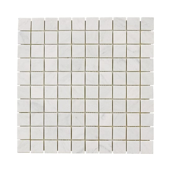 Jeffrey Court Carrara White 11.75 in. x 11.75 in. x 10 mm Honed Marble Mosaic Floor and Wall Tile