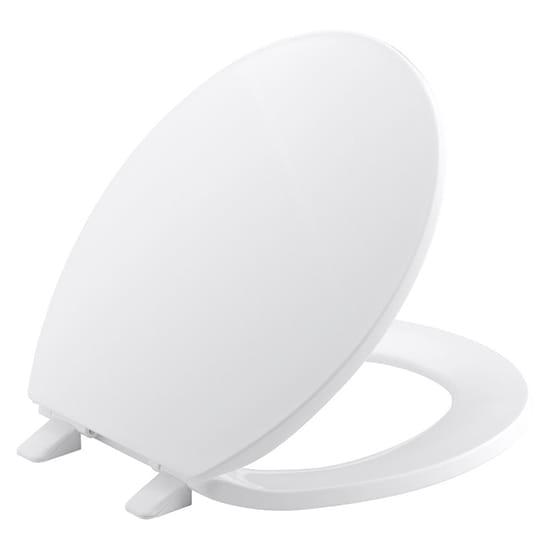 KOHLER Brevia Round Closed Front Toilet Seat with Quick-Release Hinges in White