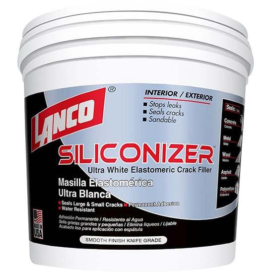 1/4 Gal Siliconizer White Elastomeric Crack Filler