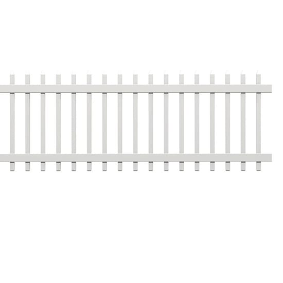 Veranda 3 ft. x 8 ft. White Composite Chelsea Fence Panel