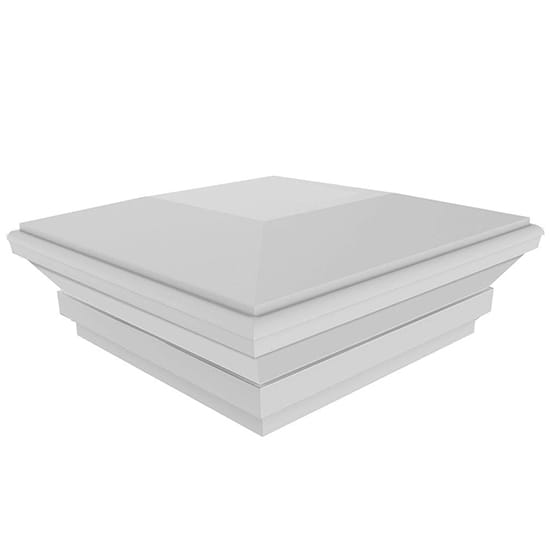 Veranda 5 in. x 5 in. White Vinyl Contemporary Post Cap