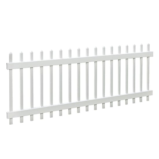 Veranda Chelsea 3 ft. H x 8 ft. W White Vinyl Fence Panel