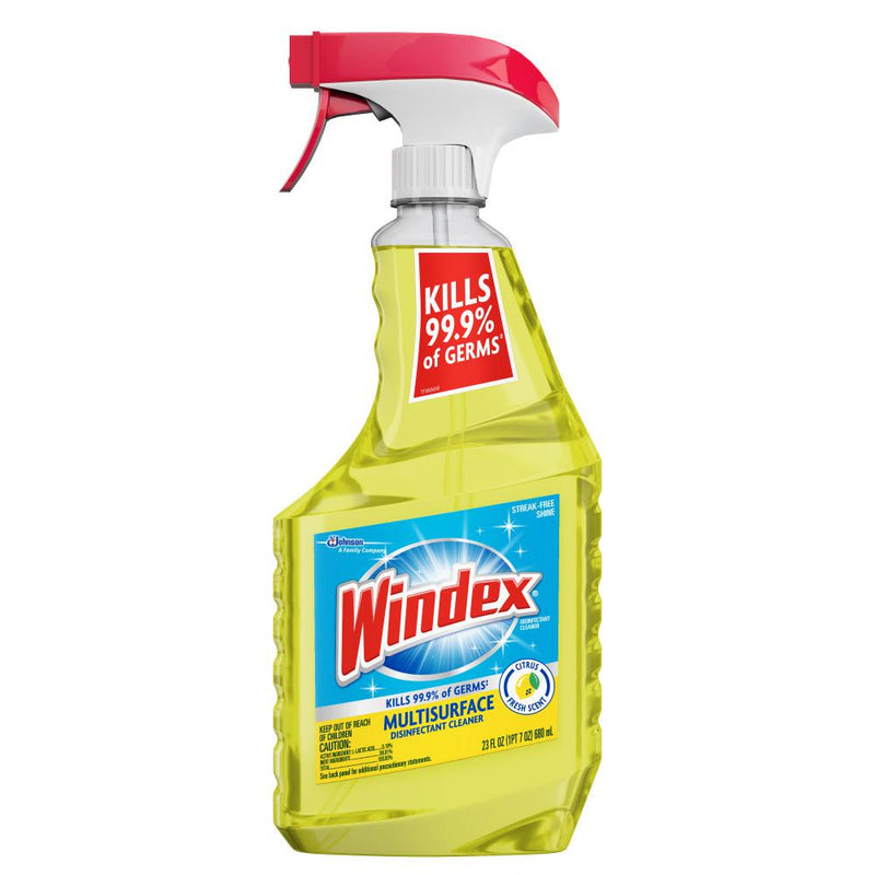 Windex 23 fl. oz. Multi-Surface Disinfectant Glass Cleaner