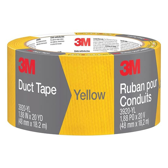 3M 1.88 in. x 20 yds. Yellow Duct Tape