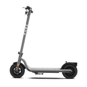 Grey Pure Air Electric Scooter With Puncture Prevention Fluid