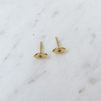 RYO GOLD EYE EARRINGS