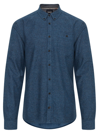 BLEND CASUAL DENIM BUTTON UP