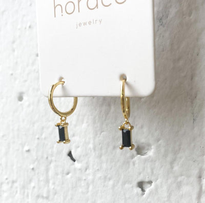 WYLO BLACK + GOLD PENDANT EARRINGS