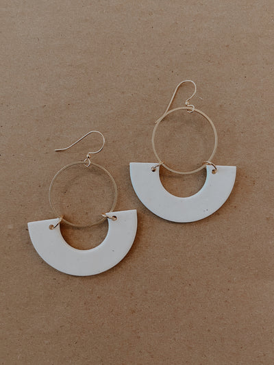 SAIGE COLLECTIVE CLAY EARRINGS