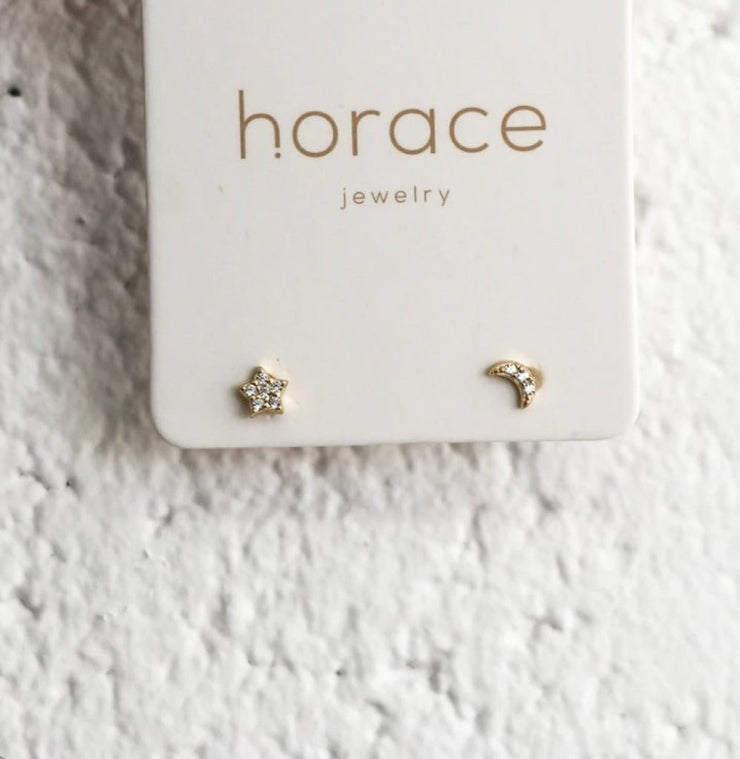 CIELO GOLD MOON + STAR EARRINGS