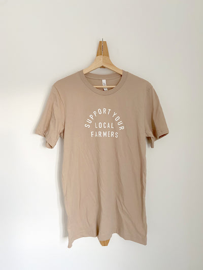 SUPPORT LOCAL FARMERS TEE - SAND