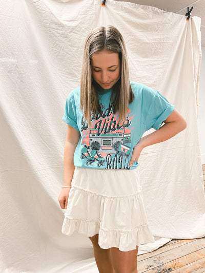 LET THE GOOD TIMES ROLL OVERSIZED TEE
