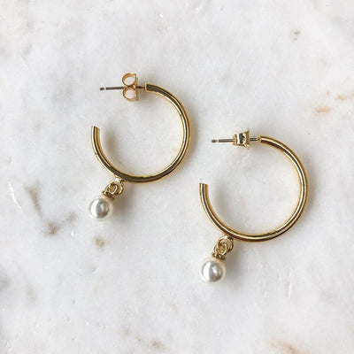 Sindo Gold + Pearl Earring