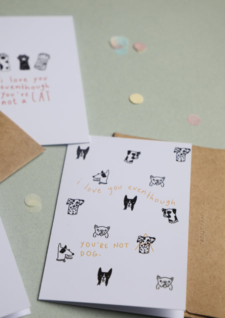 Greeting Card - Love you | Dog Version