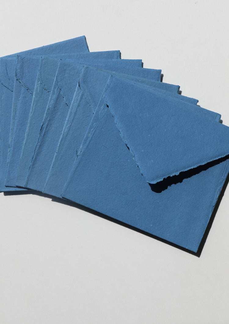Deckled Edge Handmade Envelopes - Sailor Blue