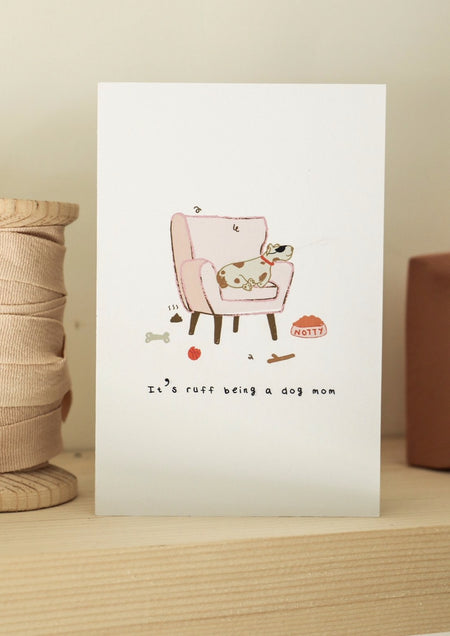 Dog Mom Greeting Card