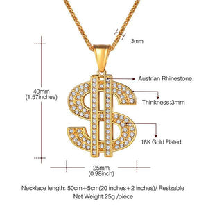 DINERO PENDANT NECKLACE