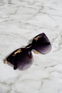 Leopard Black Sunglasses