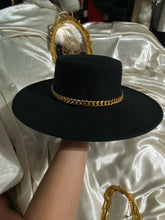Load image into Gallery viewer, Celine Black Chain Link Fedora Hat